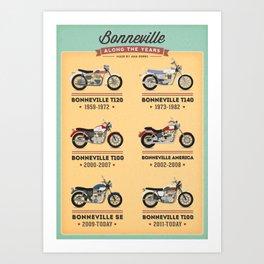 Bonneville Along the Years Art Print