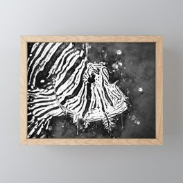 poisonous exotic lionfish wsbw Framed Mini Art Print