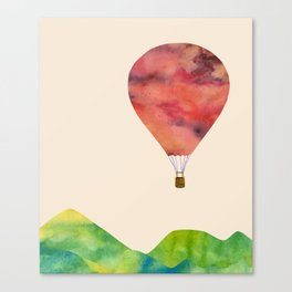 Sunset balloon Canvas Print