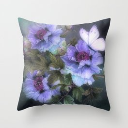 PEONIES IN BLOOM 02 Throw Pillow