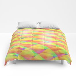 Bright Interference Comforters