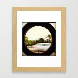 Speed on Through Framed Art Print
