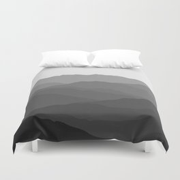 Shades of Grey Mountains Duvet Cover