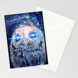 Owl with Lasers Stationery Cards