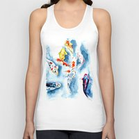 koi Tank Tops featuring Koi  by Bridget Davidson