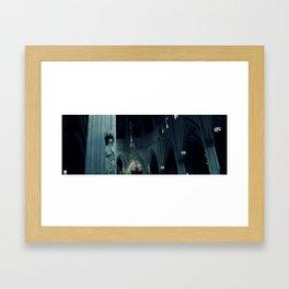 Darkened Church  Framed Art Print
