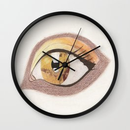 The Eye Sees Mars Wall Clock