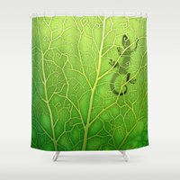 lizard Shower Curtains featuring lizard by Antracit