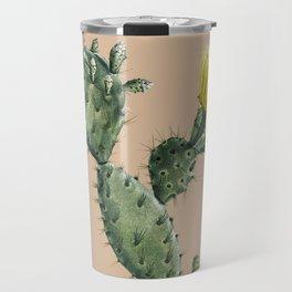 Cactus on Terra Cotta Travel Mug