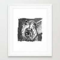yorkie Framed Art Prints featuring yorkie by Jenn Steffey
