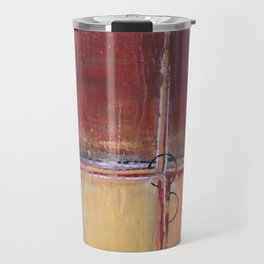 Cargo - Textured Abstract Painting - Red, Gold and Copper Art Travel Mug