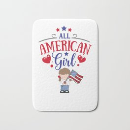 All American Girl Bath Mat