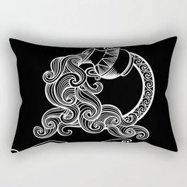 Aquarius zodiac Rectangular Pillow