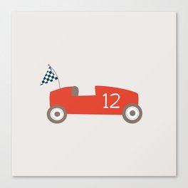 Soapbox Derby Red Car Canvas Print