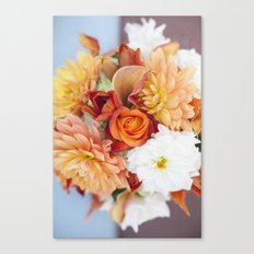 orange, yellow and white flowers Canvas Print
