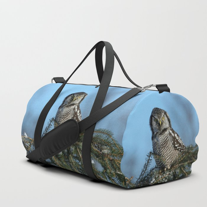 Atop a fallen branch Duffle Bag