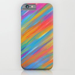 Color Overload Painting / Watercolor Hand Painted Tie-Dye Effect Gradient / Orange Yellow Blue Pink iPhone Case