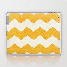 chevron - yellow Laptop & iPad Skin