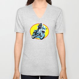 Running Motorcycle Unisex V-Neck