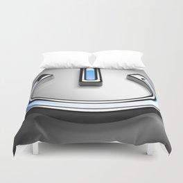 Start symbol for technology with blue light - 3D rendering Duvet Cover