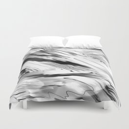 Modern Abstract - Black and White Duvet Cover