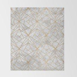 Art Deco over Stone II Throw Blanket