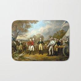 The Surrender of General Burgoyne Bath Mat