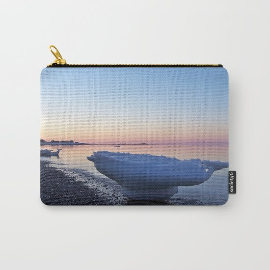 Icebergs on the Beach Carry-All Pouch