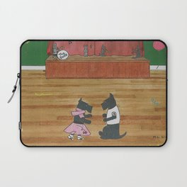 At the Hop-Scotch - Scotties - Scottish Terriers Laptop Sleeve