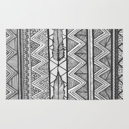 Two Feathers Monochrome Rug