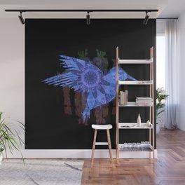 Ultra HDR Indigo Glow Hummingbird Print Wall Mural