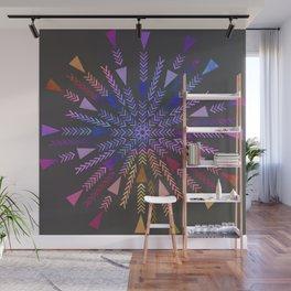 Multicolored geometric firework Wall Mural