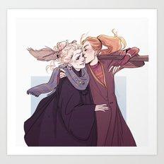Ginny & Luna Art Print