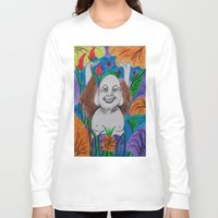 buddah Long Sleeve T-shirts featuring WEDDING BUDDAH-2 by Manuel Estrela 113 Art Miami