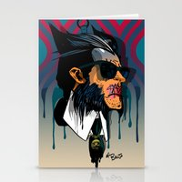 karl lagerfeld Stationery Cards featuring wolvereen  vs Karl Lagerfeld  by el brujo