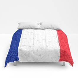 France Flag Mosaic Comforters