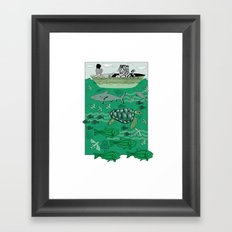 Sea Traffic Framed Art Print