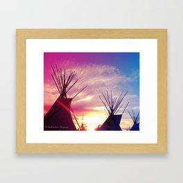 Sunset Tipi Framed Art Print