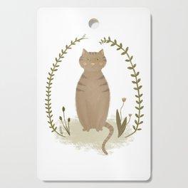 Nature Cat Cutting Board