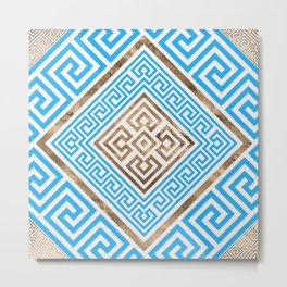 Greek Key Ornament - Greek Meander -Rhombus #1 Metal Print