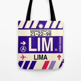 LIM Lima • Airport Code and Vintage Baggage Tag Design Tote Bag