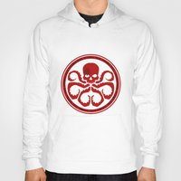 hydra Hoodies featuring Hail Hydra! by livinginamovie