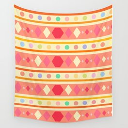 Happy Tribal Pattern Wall Tapestry