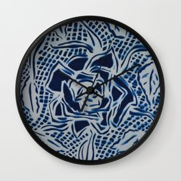 Floral Cyanotype Wall Clock
