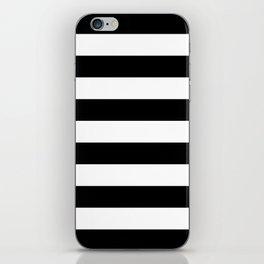 Black White Stripe Minimalist iPhone Skin