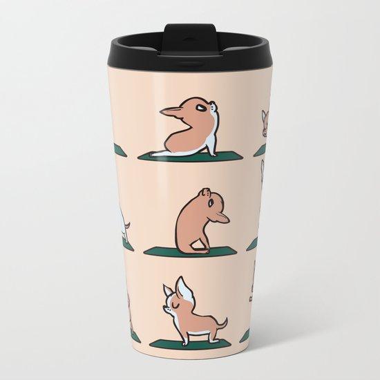 Chihuahua Yoga Metal Travel Mug