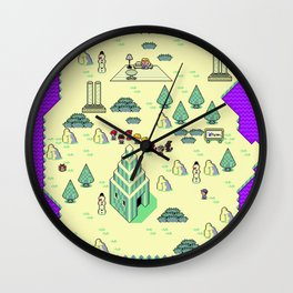 Earthbound Magicant Map Wall Clock