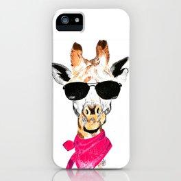 Giraffe with sunglasses iPhone Case