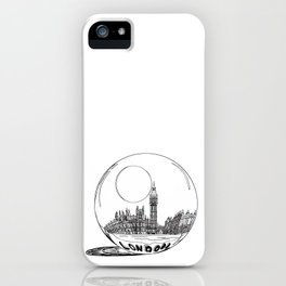 LONDON City in a Glass Ball iPhone Case