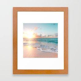 Pink Sea Framed Art Print